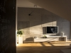 beton architektoniczny na ścianie projektowanie wnętrz szczecin