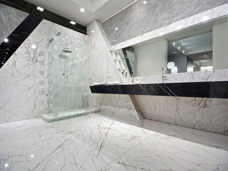 Gresy wielkoformatowe włoskiej firmy Csalgrande Padana - przykładowe wnętrze